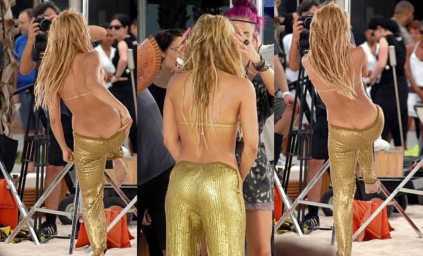 La imagen del día: A Shakira se le ve la raya